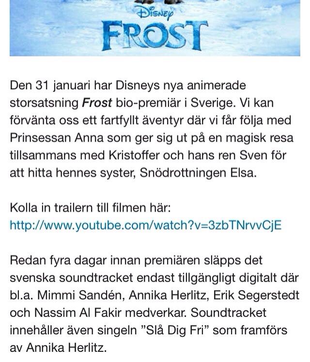 Soundtrack – Frost   Annika Herlitz